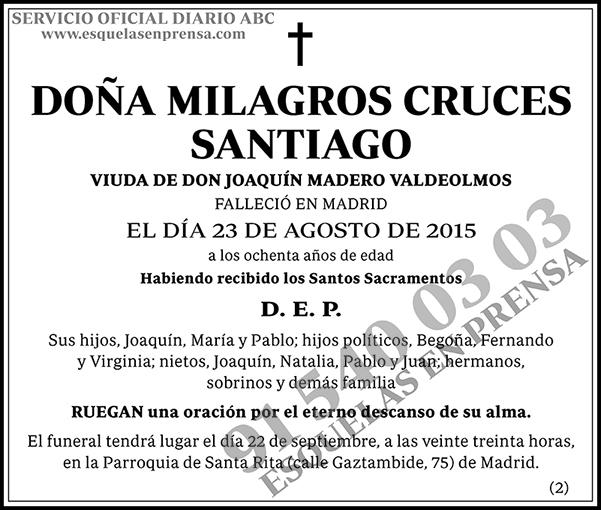 Milagros Cruces Santiago